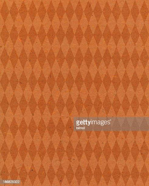 orange diamond pattern paper