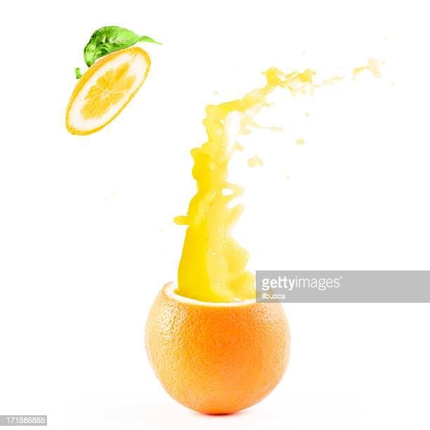 Orange explosion juice splash
