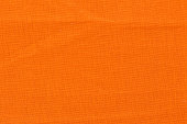 Close up of orange fabric texture for background. Top quality