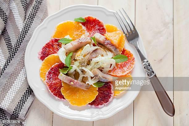Orange, Fenchel und Harring-Salat