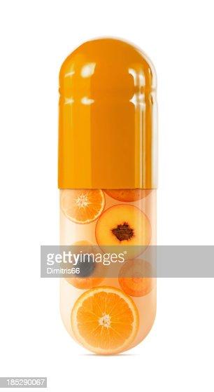 Orange Fruit and Vegetable Capsule