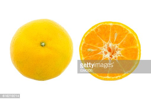 Orange fruit isolated on white background. : Stock Photo