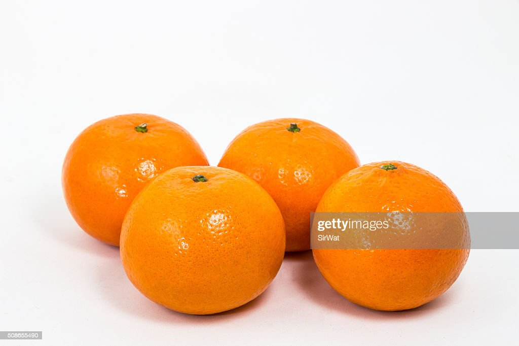 Orange Fruit on White : Stock Photo
