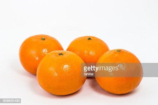 Orange Fruit on White : Stock Photo
