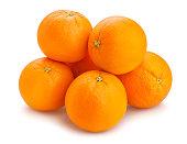orange fruit path isolated