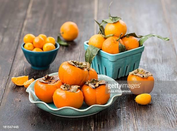 Orange fruits and citrus