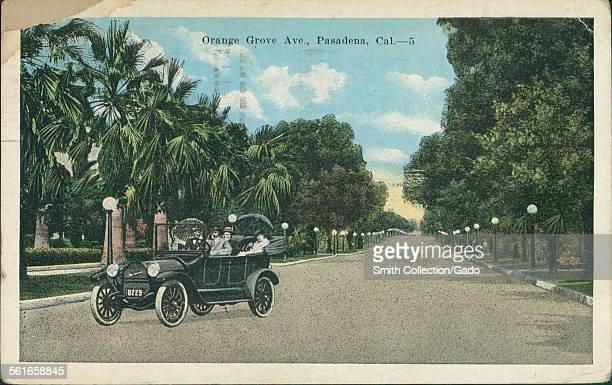 Orange Grove Avenue Pasadena California 1923