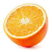 Orange half. Fruit isolated on white background