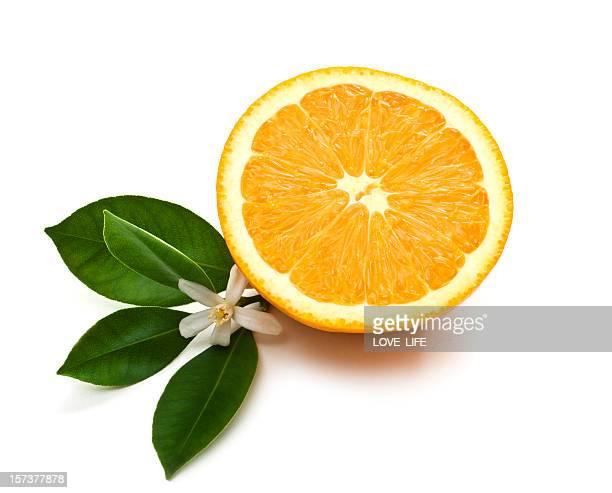 Orange à moitié