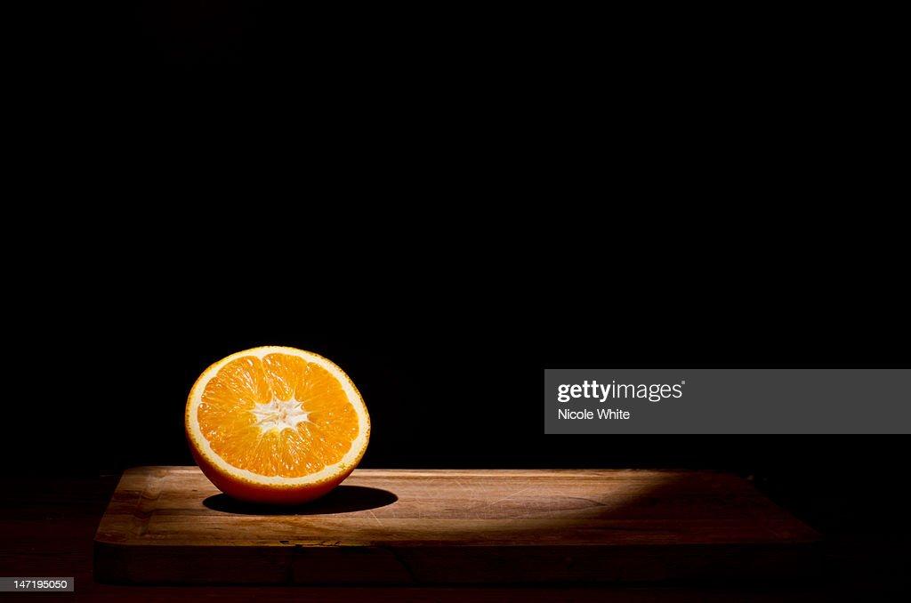 Orange in spotlight