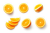 Orange isolated on white background. Top view