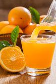 Orange juice and fruits,Healthy drink