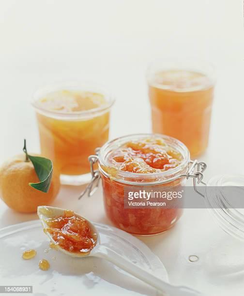 Orange Marmalade in jar.