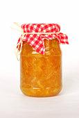 Jar of home made orange marmalade