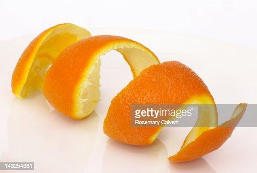Orange peel in a  coil