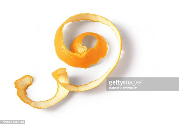 Orange peel, white background