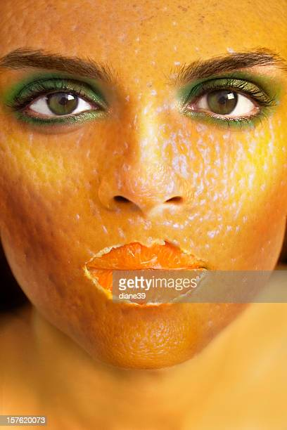 Orange peel woman