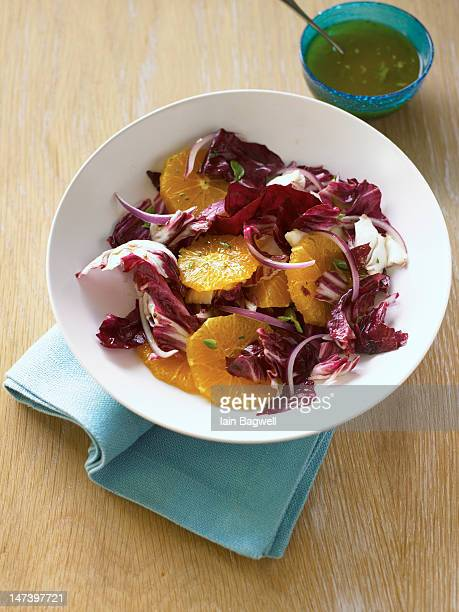 orange, radicchio, and oregano salad