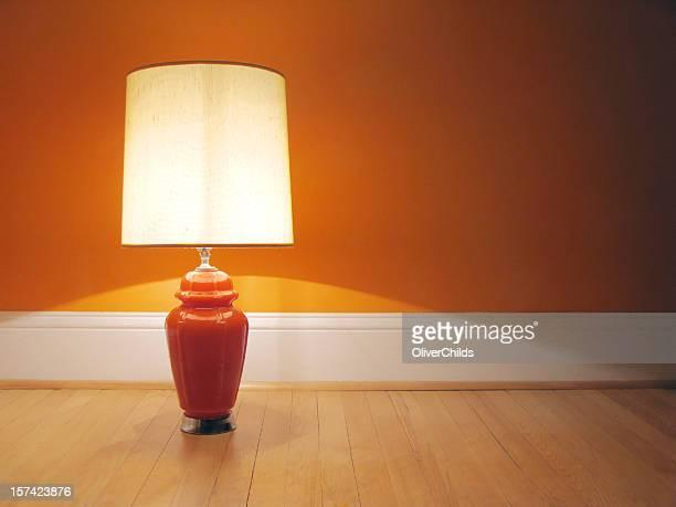 Orange retro lamp.