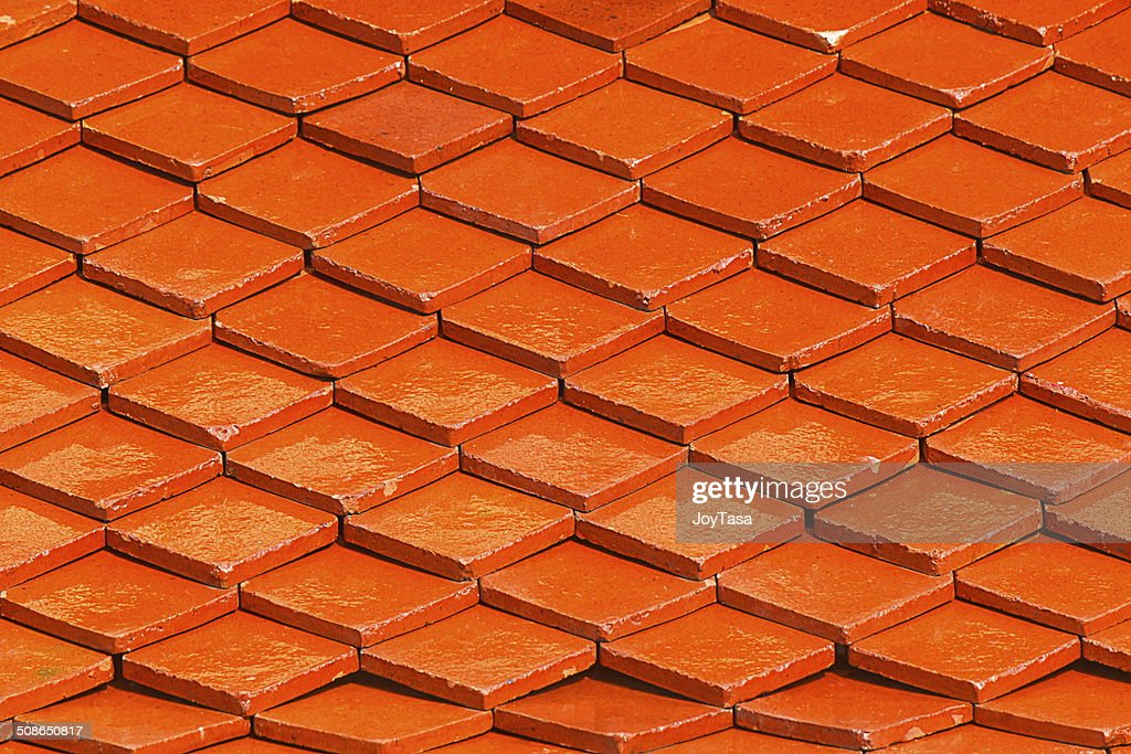 Orange roof for pattern and background : Stock Photo