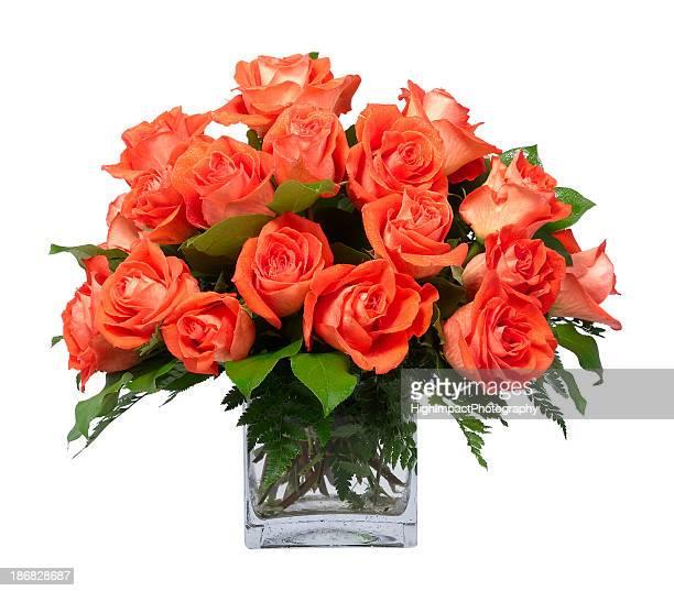 Orange Rosen in Vase