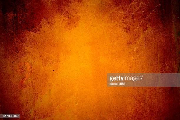 Orange rust colored grunge background