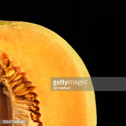 Orange skin honeydew melon : Stock Photo