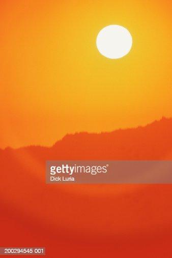 orange sky : Foto de stock