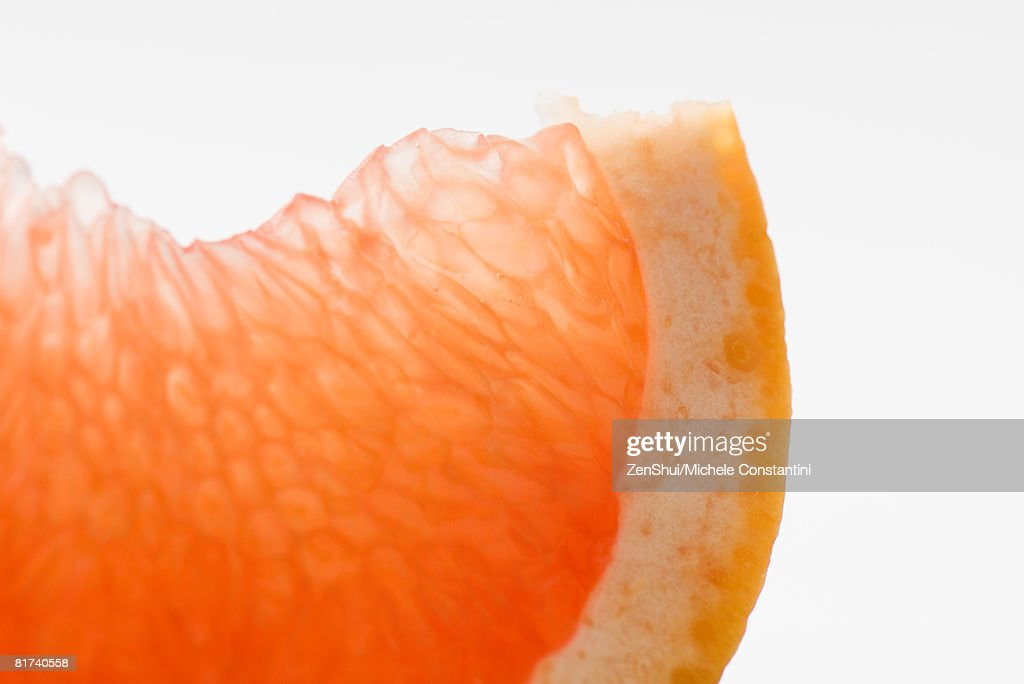 Orange slice, close-up : Stock Photo