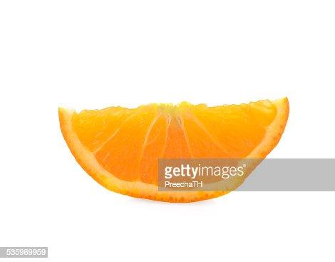 Orange slice isolated on white : Stock Photo