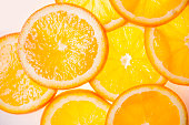 fresh orange slices using for background or simple one.