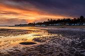 Orange Sunrise at Wells-Next-the-Sea