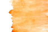 Orange watercolor background with space for your own text