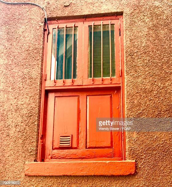Orange window covering