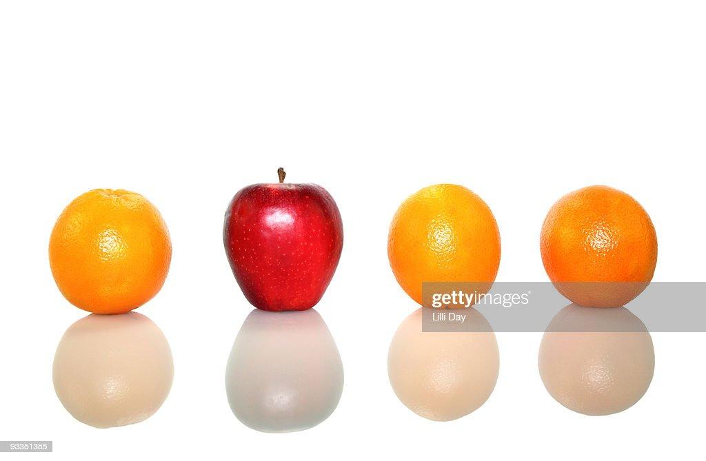 Oranges and Apple : Stock Photo
