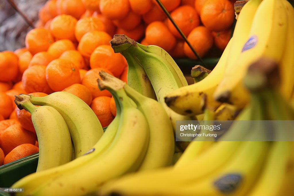 Oranges and bananas are displayed for sale at a shop on April 1 2014 in Northwich United Kingdom Researchers at University College London have said...