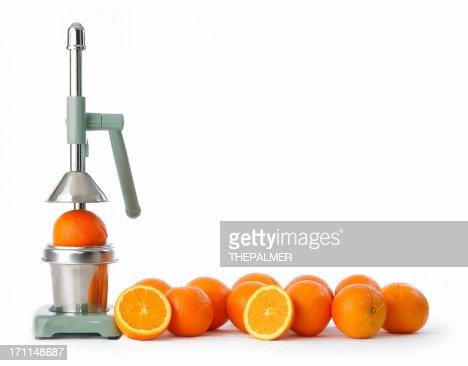 oranges and squeezer