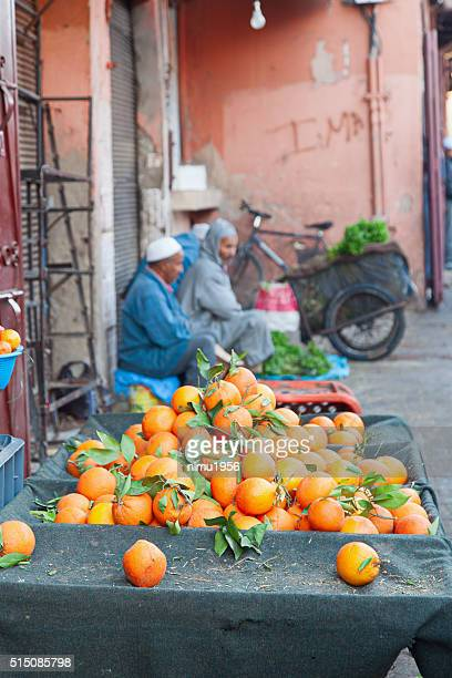 Oranges for sale in the Marrakech Medina