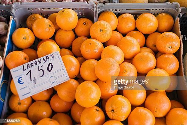 Oranges on fruit stall
