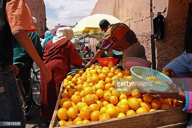 Orangen auf dem Markt in Marrakesch, Marokko