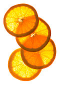 Oranges on White