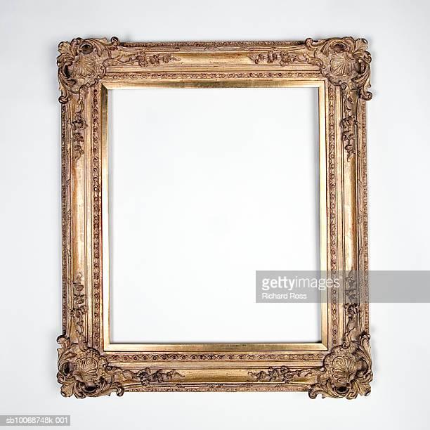 Orante picture frame on black background