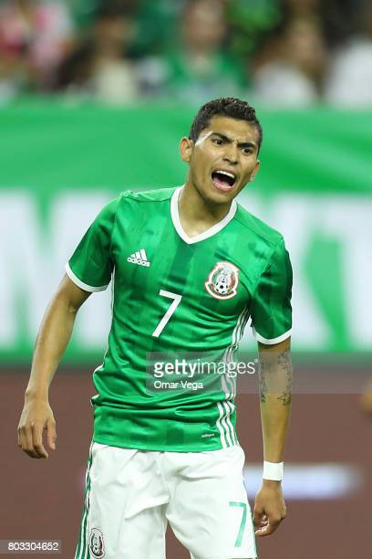 Orbelin Pineda of Mexico reacts during the friendly match between Mexico and Ghana at NRG Stadium on June 28 2017 in Houston Texas