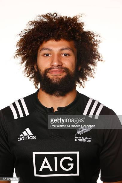 Orbyn Leger poses during the New Zealand U20 Headshots Session at Novotel Auckland Airport on April 22 2017 in Auckland New Zealand
