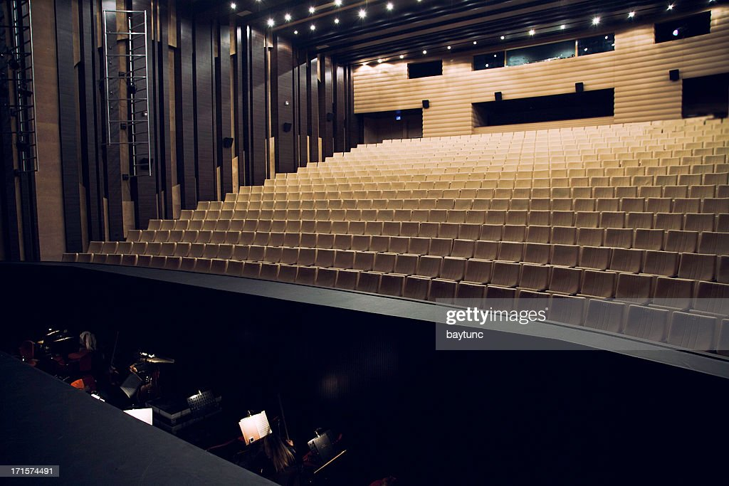 Orchestra pit and theatre seats