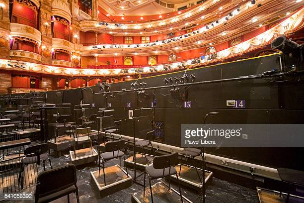Orchestra pit in the Coliseum Theatre in London