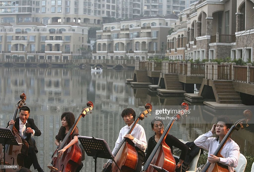 Orchestra rest during the opening ceremony of Chongqing Palm Springs Garden villa on November 3 2006 in Chongqing Municipality China The deluxe...