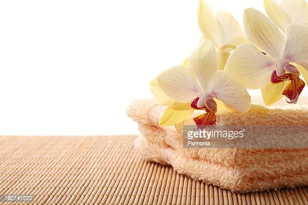 Orchid mit Handtücher