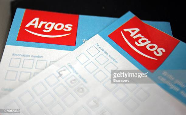 Order forms sit on display at an Argos store operated by Home Retail Group Plc in London UK on Tuesday Jan 11 2011 UK retail sales fell last month as...