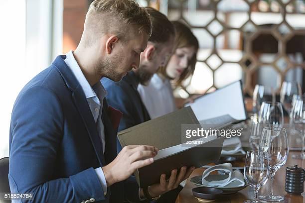Ordering meal from menu